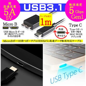 流明 / 流明 USB3.1 高速資料傳輸和充電電纜 USB 類型 C OST USB 固定化微生物 m) 最大傳輸速率為 5 Gbps MacBook Nexus 5 x Nexus 6 p 禪墊 S