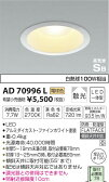AD70996L 高気密ダウンライト(屋内屋外兼用) (φ100・白熱球100W相当) LED(電球色) コイズミ(SX) 照明器具