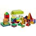 マグネットブロック 磁石ブロック マグネットおもちゃ 知育玩具 立体パズル 組み立て 積み木 収納ケース付き 誕生日 入園祝い ギフトクリスマス 贈り物 60ピース
