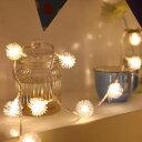 LEDイルミネーションライト 20球3m インテリアライト ストリングライト クリスマス 飾り 防水 屋外対応 8つ点灯パターン