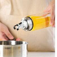 オイルボトル調味料入れ醤油ボトル酢ボトル油さしオイル差しガラス素材防塵業務用家庭キッチン飲食店500ml2個