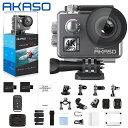 AKASO V50 Elite アクションカメラ 4K 170度広角レンズ 16