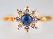 【Tiffany&Coティファニー】天然サファイアダイヤリング天然サファイア天然ダイヤモンド【中古】【新品仕上げ】