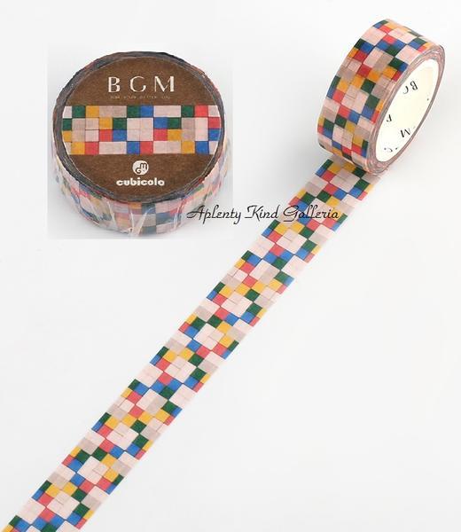 ギフトラッピング用品, デザインマスキングテープ BGMcubicolo 15mm cubicolo04 BCM-CA004 BGM BGMMastro Geppetto15mm3cmOK
