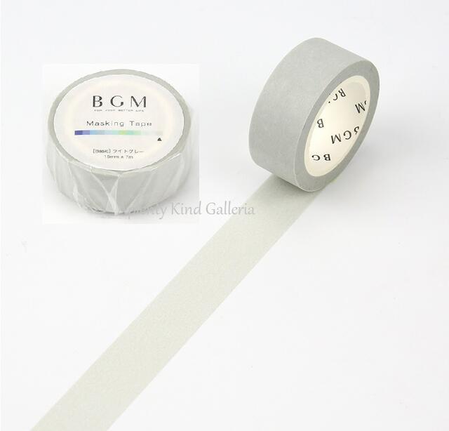 ギフトラッピング用品, デザインマスキングテープ BGM 15mm BM-B024 BGM 15mmBasiclightGray3cmOK
