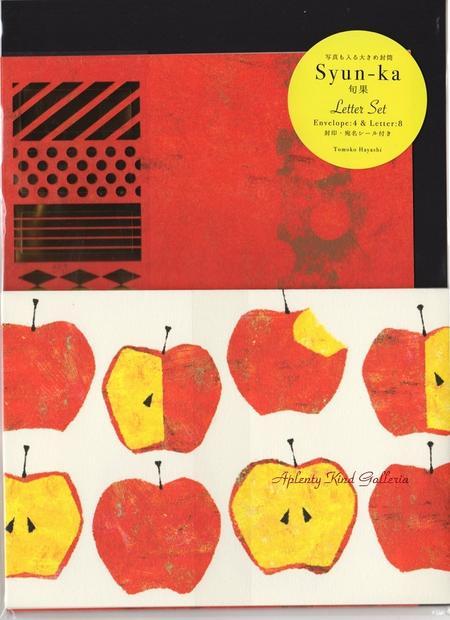 紙製品・封筒, レターセット Shun-ka LS-13687APPLE TOMOKO HAYASHI 843cmOK