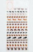 【新入荷】フォトプチマークシール ネコ NO.46173 ★手帳スケジュール帳に小さいシールseal猫柄ねこグッズキャットシールにゃんこちゃんグッズミニミニシール猫の写真シール★【3cmメール便OK】