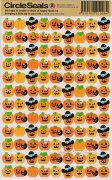 ハロウィンサークルシール カボチャ ハロウィン SealsRYURYU リュリュ かぼちゃ シールハロウィングッズ トリックオアトリートハロウィンデコランタンガイコツ
