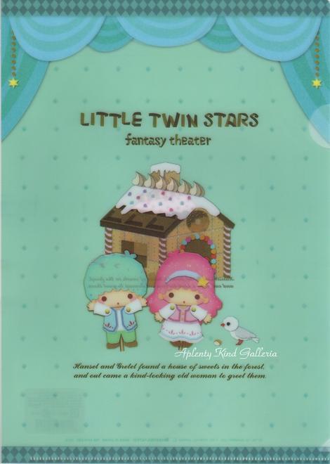 ギフトラッピング用品, シール・ステッカー A4 D 788-4410-04D Little Twin Stars fantasy theaterSANRIO3cmOK