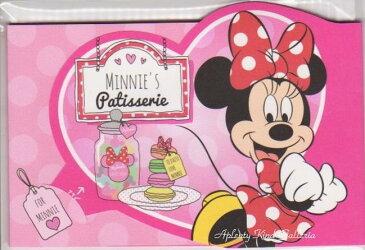 【Disneyグッズ】ディズニーダイカットぽち袋 ミニーマウス ハートデザイン S3994279/NO.502199 2枚入り★ディズニーデザインのポチ袋ミニーちゃんのぽちぶくろおとしだま袋お札を折って入れるタイプ/マカロンパティシエ柄★【3cmメール便OK】
