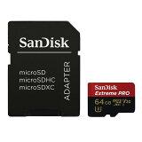 サンディスク(SANDISK)64GBサンディスクExtremePROmicroSDXCメモリカードSDアダプタ付き[海外パッケージ]SDSQXCG-064G-GN6MA