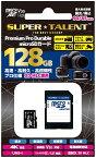SUPER TALENT アクションカメラやIPカメラ、ドラレコや防犯カメラ等に最適!高速・高耐久・高信頼性 3D MLC NANDを採用したプロ仕様 microSDHCカード 128GB ST28MSU3PD