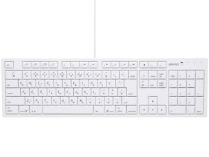 《在庫あり》【台数限定】BUFFALO(バッファロー)フルキーボード USB接続 パンタグラフ Macモ...