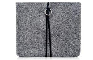 《予約受付中》EVOUNI(エボユニ) 100% HandmadeWoolシリーズ iPad2 グレー [W57-0GY]【newitem】