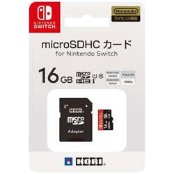 HORIマイクロSDカード16GBforNintendoSwitch Switch  NSW-042