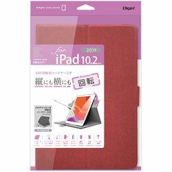 Nakabayashi10.2インチiPad(第7世代)用軽量回転式カバーTBC-IP1909RレッドTBCIP1909R