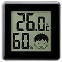 ドリテック デジタル温湿度計 ピッコラ O-282-BK O282BK