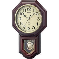 ノア精密 電波掛時計 ブラウン W-640 BR [電波自動受信機能有] W640BR