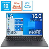 LG(エルジー) ノートパソコン gram オブシディアンブラック 16Z90P-KA55J1 [16.0型 /intel Core i5 /SSD:512GB /メモリ:16GB /2021年2月モデル] 16Z90PKA55J1