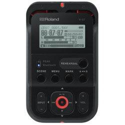 ROLAND ハイレゾ・オーディオ・レコーダー R-07-BK ブラック [Bluetooth対応 /ハイレゾ対応] R07