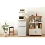 アイリスオーヤマ 冷蔵庫上ラック RUR-480 ホワイト/ ナチュラル RUR480