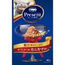 あきばお〜楽天市場支店で買える「【日本ペットフード】コンボ キャット プレゼント まぐろとかつお カニカマ添え 40g 日本ペットフード」の画像です。価格は77円になります。