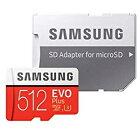 【サムスンSAMSUNG】サムスンマイクロSDXC512GBMB-MC512GA/CNEVO+シリーズUHS-IU3microsdカード