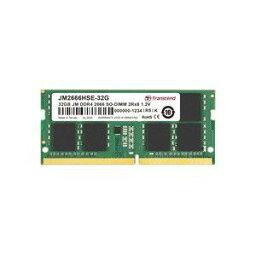 【トランセンド Transcend】トランセンド Transcend 32GB JM DDR4 2666Mhz SO-DIMM 2Rx8 2Gx8 CL19 1.2V JM2666HSE-32G