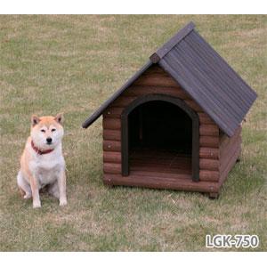 ログ犬舎 LGK-750(ダークブラウン)