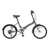 送料無料!!【マイパラス MYPALLAS】折畳自転車 20 6SP M-209 GR アイビーグリーン 【メーカー直送 代引き不可】【smtb-u】