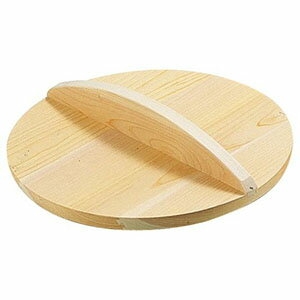 【雅うるし工芸】厚手サワラ木蓋 18cm用 AKB02018