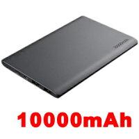 【TECテック】モバイルバッテリー10000mAhTMB-4K超薄型9mm・軽量TMBPAD10K-BKブラック