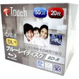 【Touch】【訳あり:サポート(初期不良含む)無しにつき大特価】BR50DVJW20S6 BD-R BDR DL 50GB 6倍速 20枚
