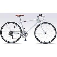 送料無料!!【マイパラスMYPALLAS】クロスバイク700C6SPホワイトM-604-WH【メーカー直送き】【smtb-u】
