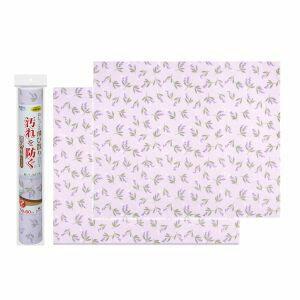 【サンコー】トイレシート 壁の汚れ防止 おくだけ吸着 消臭壁面シート 50×60cm 花柄 ラベンダー 2枚入 KL-23