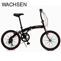 送料無料!!【WACHSEN】20インチアルミ折りたたみ自転車6段変速付きAngriff(アングリフ)BA-100(ブラック/レッド)【smtb-u】