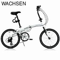 送料無料!!【WACHSEN】20インチアルミ折りたたみ自転車6段変速付Weiβ(ヴァイス)BA-101【smtb-u】