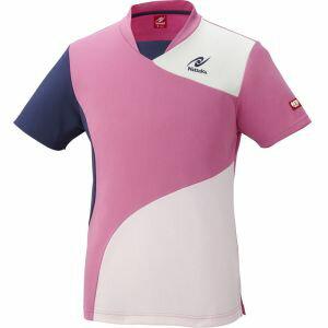 【ニッタク Nittaku】男女兼用 卓球用ウェア サークルシャツ ピンク 3S NW2175