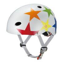 【オージーケーカブトOGKKabuto】FR-KIDSエフアールキッズ自転車ヘルメット子供用スターホワイトサイズ:50〜54cm(未満)