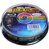 【ハイディスク HI DISC】HDBD-RDL6X10SP BD-R BDR DL 50GB 6倍速10枚