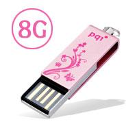 【メール便対象商品】【PQI】【USBメモリー 8GB】i812 6812-008GR2【360度回転タイプ メタル チ...