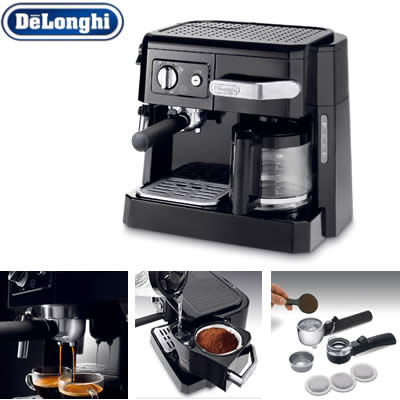 デロンギ コンビ コーヒーメーカー BCO410J-B ブラック【送料無料】【KK9N0D18P】