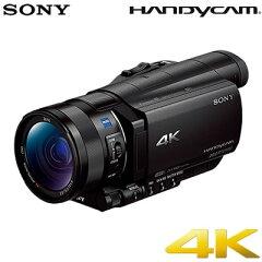 代引き手数料無料・送料無料・延長保証申込可ソニー ビデオカメラ 4K対応 ハンディカム FDR-AX1...