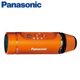 パナソニックビデオカメラウェアラブルカメラA1H軽量一体型防水・防塵・耐衝撃HX-A1H-Dオレンジ