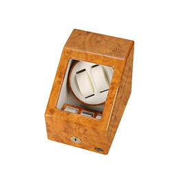 エスプリマ自動巻き時計用ワインダーLUHW木製2連ワインディングマシーンLU20001RWライトウッド