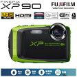 富士フイルム デジタルカメラ FinePix XPシリーズ XP90 FX-XP90LM ライム 【送料無料】【KK9N0D18P】