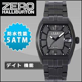 ゼロハリバートン腕時計5気圧防水デイトZW006B-02ブラックZEROHALLIBURTON