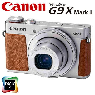 デジタルカメラ, コンパクトデジタルカメラ  PowerShot G9 X Mark II PSG9X-MARKII-SL 1718C004 KK9N0D18P