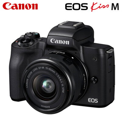 デジタルカメラ, ミラーレス一眼カメラ Canon EOS Kiss M EF-M15-45 IS STM EOSKissM-1545LK-BK KK9N0D18P
