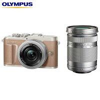 オリンパス ミラーレス一眼カメラ OLYMPUS PEN E-PL10 EZ ダブルズームキット E-PL10-EZWZK-BR ブラウン【送料無料】【KK9N0D18P】